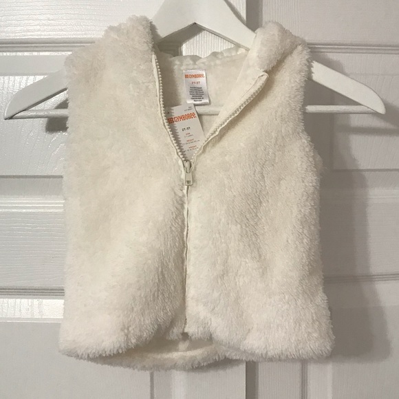 2d223758ad173 New Gymboree hooded toddler girl faux fur vest